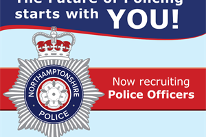 Northamptonshire Police looking to recruit 200 officers