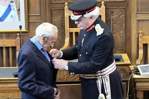 D-Day Veteran surprised with Legion of Honour award at County Hall